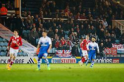Bristol City fans look on - Photo mandatory by-line: Rogan Thomson/JMP - 07966 386802 - 28/11/2014 - SPORT - FOOTBALL - Peterborough, England - ABAX Stadium - Peterborough United v Bristol City - Sky Bet League 1.