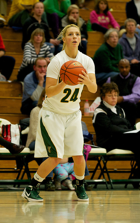 The women's basketball game between the Colgate Raiders and the Vermont Catamounts at Patrick Gym on Saturday afternoon November 18, 2011 in Burlington, Vermont.