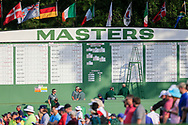 A view of the scoreboard during the 1st round at the The Masters , Augusta National, Augusta, Georgia, USA. 11/04/2019.<br /> Picture Fran Caffrey / Golffile.ie<br /> <br /> All photo usage must carry mandatory copyright credit (© Golffile | Fran Caffrey)