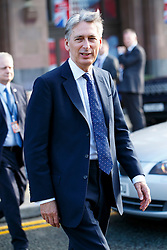 © Licensed to London News Pictures. 06/10/2015. Manchester, UK. Foreign Secretary Philip Hammond  attending Conservative Party Conference at Manchester Central on Tuesday, 6 October 2015. Photo credit: Tolga Akmen/LNP