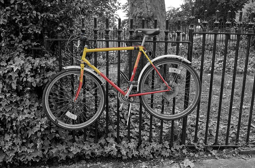 SERIES - UNRELIABLE-SIGHTINGS by PAUL WILLIAMS-  Bike Primrose Hill London