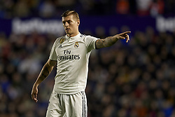 February 24, 2019 - Valencia, Valencia, Spain - Toni Kroos of Real Madrid gives instructions during the week 25 of La Liga match between Levante UD and Real Madrid at Ciutat de Velencia Stadium in Valencia, Spain on February 24, 2019. (Credit Image: © Jose Breton/NurPhoto via ZUMA Press)