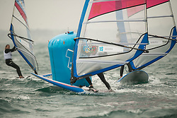 31.07.2012, Bucht von Weymouth, GBR, Olympia 2012, Windsurfen, im Bild RS:X Women, Sensini Alessandra (ITA) . EXPA Pictures © 2012, PhotoCredit: EXPA/ Juerg Kaufmann ***** ATTENTION for AUT, CRO, GER, FIN, NOR, NED, POL, SLO and SWE ONLY!