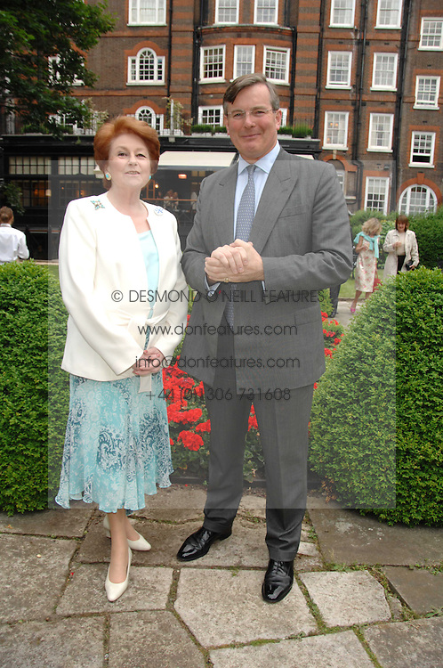 LADY ELIZABETH ANSON and CAPT.ASHE WINDHAM Chairman of the Friends of The Castle of Mey at a reception for the Friends of The Castle of Mey held at The Goring Hotel, London on 20th May 2008.<br /><br />NON EXCLUSIVE - WORLD RIGHTS