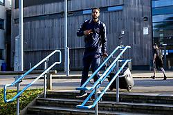 Chris Taylor of Bristol Flyers Bristol Flyers arrives at London Lions - Photo mandatory by-line: Robbie Stephenson/JMP - 10/04/2019 - BASKETBALL - UEL Sports Dock - London, England - London Lions v Bristol Flyers - British Basketball League Championship