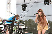 Brazilian Girls featuring Sabina Sciubba (lead singer), Didi Gutman (keyboards), Aaron Johnston (drums), and Jesse Murphy (bass) performs during the second day of the 2007 Bonnaroo Music & Arts Festival on June 15, 2006 in Manchester, Tennessee. The four-day music festival features a variety of musical acts, arts and comedians..Photo by Bryan Rinnert