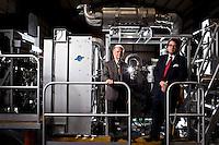 Daniel Layton and Donald Stevenson at a Stewart & Stevenson facility.