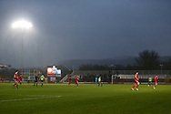 The clock ticks down during the EFL Sky Bet League 1 match between Accrington Stanley and AFC Wimbledon at the Fraser Eagle Stadium, Accrington, England on 1 February 2020.