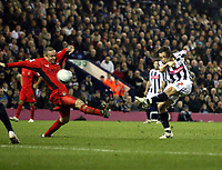 Photo: Mark Stephenson/Sportsbeat Images.<br /> West Bromwich Albion v Coventry City. Coca Cola Championship. 04/12/2007.West Brom's Robert Kopren tries a shot