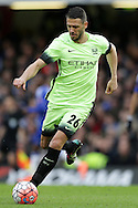 Martin Demichelis of Manchester City in action. The Emirates FA Cup, 5th round match, Chelsea v Manchester city at Stamford Bridge in London on Sunday 21st Feb 2016.<br /> pic by John Patrick Fletcher, Andrew Orchard sports photography.