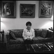 Bronia in her living room in Brooklyn