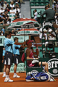 Roland Garros. Paris, France. June 4th 2008..Elena DEMENTIEVA against Dinara SAFINA..1/4 Finals...