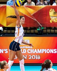 16-10-2018 JPN: World Championship Volleyball Women day 17, Nagoya<br /> Netherlands - China 1-3 / Anne Buijs #11 of Netherlands