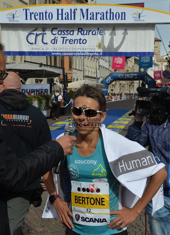9ª Semi Maratona di Trento Half Marathon - 6 ottobre 2019 –  Corsa su strada internazionale -  06.10.2019, Trento, Trentino, Italia. Arrivo donne, Bertone<br /> © Daniele Mosna WWW.DANIELEMOSNA.IT
