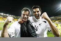Fotball<br /> Play Off til VM 2010<br /> 14.11.2009<br /> New Zealand v Bahrain 1:0<br /> New Zealand klar for VM<br /> Foto: imago/Digitalsport<br /> NORWAY ONLY<br /> <br /> Ryan Nelson (li) und Rory Fallon