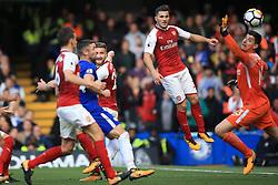 17 September 2017 -  Premier League - Chelsea v Arsenal - Shkodran Mustafi of Arsenal scores a disallowed goal  - Photo: Marc Atkins/Offside