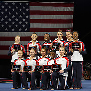 USA Gymnastics named U.S. Women's National Team after the NAtional Championships. The team includes, Kennedy Baker, Flower Mound, Texas/Texas Dreams<br /> Simone Biles, Spring, Texas/Bannon's Gymnastix<br /> Brenna Dowell, Odessa, Mo./GAGE<br /> Peyton Ernst, Coppell, Texas/Texas Dreams<br /> Madison Kocian, Dallas/WOGA<br /> McKayla Maroney, Long Beach, Calif./All-Olympia<br /> Maggie Nichols, Little Canada, Minn./Twin City Twisters<br /> Elizabeth Price, Coopersburg, Pa./Parkettes<br /> Lexie Priessman, Cincinnati, Ohio/Cincinnati Gymnastics<br /> Kyla Ross, Aliso Viejo, Calif./Gym-Max<br /> MyKayla Skinner, Gilbert, Ariz./Desert Lights.<br /> The Senior Women Competition at The 2013 P&G Gymnastics Championships, USA Gymnastics' National Championships at the XL, Centre, Hartford, Connecticut, USA. 17th August 2013. Photo Tim Clayton