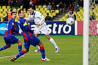 """Il gol di Lucio Inter<br /> Goal Celebration<br /> Mosca 27/9/2011 Stadio """"Luzhniki""""<br /> Football / Calcio UEFA Champions League 2011/2012<br /> CSKA Moscow vs Inter<br /> Foto Insidefoto Paolo Nucci"""