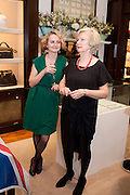 JACKY BAHBOUT; CAROL BAHBOUT, Smythson Royal Wedding exhibition preview. Smythson together with Janice Blackburn has commisioned 5 artist designers to create their own interpretations of  Royal wedding memorabilia. Smythson. New Bond St. London. 5 April 2011.  -DO NOT ARCHIVE-© Copyright Photograph by Dafydd Jones. 248 Clapham Rd. London SW9 0PZ. Tel 0207 820 0771. www.dafjones.com.