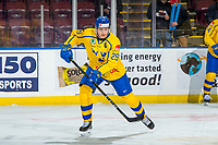 KELOWNA, BC - DECEMBER 18: Pontus Holmberg #29 of Team Sweden warms up against the Team Russia  at Prospera Place on December 18, 2018 in Kelowna, Canada. (Photo by Marissa Baecker/Getty Images)***Local Caption***