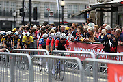 Team Wiggins on Regent Street during the London Stage of the Aviva Tour of Britain, Regent Street, London, United Kingdom on 13 September 2015. Photo by Ellie Hoad.