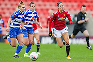 Manchester United forward Christian Press (24) comes forward with the ball during the FA Women's Super League match between Manchester United Women and Reading LFC at Leigh Sports Village, Leigh, United Kingdom on 7 February 2021.