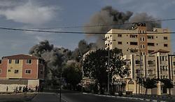 May 4, 2019 - Gaza City, The Gaza Strip, Palestine - Smoke rise after israeli airstrike Gaza city. (Credit Image: © Abed Alrahman Alkahlout/Quds Net News via ZUMA Wire)