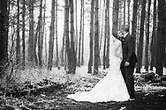 Lindsey and Jason wed at Saint John Vianney Catholic Church in Flint, Michigan, with a fun reception afterwards at Camp Copneconic lodge, in Fenton. Planned on a beautiful April day, the weather surprised them with a snowstorm, making for beautiful photos in the woods near the camp. The fun couple partied into the evening with friends and family dancing the night away.