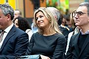 Koningin Maxima woont in het Gemeentemuseum de Fintech for Inclusion Summit 2019 bij. Zij doet dit in haar hoedanigheid van speciale pleitbezorger van de VN secretaris-generaal voor inclusieve financiering voor ontwikkeling.<br /> <br /> Queen Maxima attends the Fintech for Inclusion Summit 2019 in the Gemeentemuseum. It does this in its capacity of special advocate of the UN Secretary General for Inclusive Financing for Development.