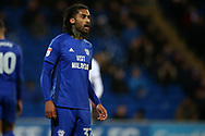 Armand Traore of Cardiff city looks on. EFL Skybet championship match, Cardiff city v Bolton Wanderers at the Cardiff city Stadium in Cardiff, South Wales on Tuesday 13th February 2018.<br /> pic by Andrew Orchard, Andrew Orchard sports photography.