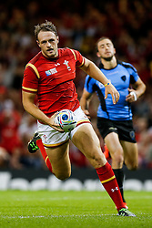 Wales Outside Centre Cory Allen runs in his second try of the match - Mandatory byline: Rogan Thomson/JMP - 07966 386802 - 20/09/2015 - RUGBY UNION - Millennium Stadium - Cardiff, Wales - Wales v Uruguay - Rugby World Cup 2015 Pool A.