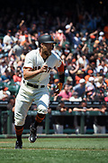 San Francisco Giants right fielder Hunter Pence (8) swings at a pitch against the Arizona Diamondbacks at AT&T Park in San Francisco, California, on August 6, 2017. (Stan Olszewski/Special to S.F. Examiner)