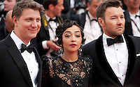 Jeff Nichols, Ruth Negga, Joel Edgerton at the gala screening for the film Loving at the 69th Cannes Film Festival, Monday 16th May 2016, Cannes, France. Photography: Doreen Kennedy