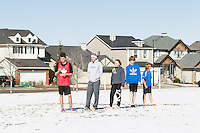 A kickoff boot camp to start up the 2014 Calgary Juniors ultimate season.<br /> <br /> ©2014, Sean Phillips<br /> http://www.RiverwoodPhotography.com