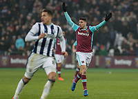 Football - 2016 / 2017 Premier League - West Ham United vs. West Bromwich Albion<br /> <br /> Jonathan Calleri of West Ham appeals to his colleague to pass to him at the London Stadium.<br /> <br /> COLORSPORT/DANIEL BEARHAM