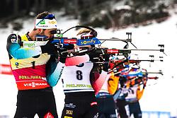 Martin Fourcade (FRA) during the Mass Start Men 15 km at day 4 of IBU Biathlon World Cup 2019/20 Pokljuka, on January 23, 2020 in Rudno polje, Pokljuka, Pokljuka, Slovenia. Photo by Peter Podobnik / Sportida
