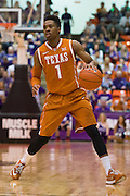FORT WORTH, TX - JANUARY 19: Isaiah Taylor #1 of the Texas Longhorns brings the ball up court against the TCU Horned Frogs on January 19, 2015 at Wilkerson-Greines AC in Fort Worth, Texas.  (Photo by Cooper Neill/Getty Images) *** Local Caption *** Isaiah Taylor