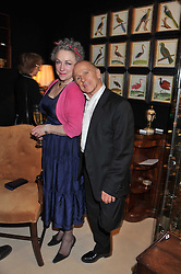 SUSAN DANIEL and WAYNE SLEEP at a preview evening of the annual London LAPADA (The Association of Art & Antiques Dealers) antiques Fair held in Berkeley Square, London on 20th September 2011.