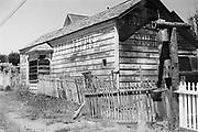 9424-M5-12. Hazeltine's Photograph studio. Martin Hazeltine's photo studio on Little Lake St., Mendocino, which opened in March 1883. Ca. 1960 photo.