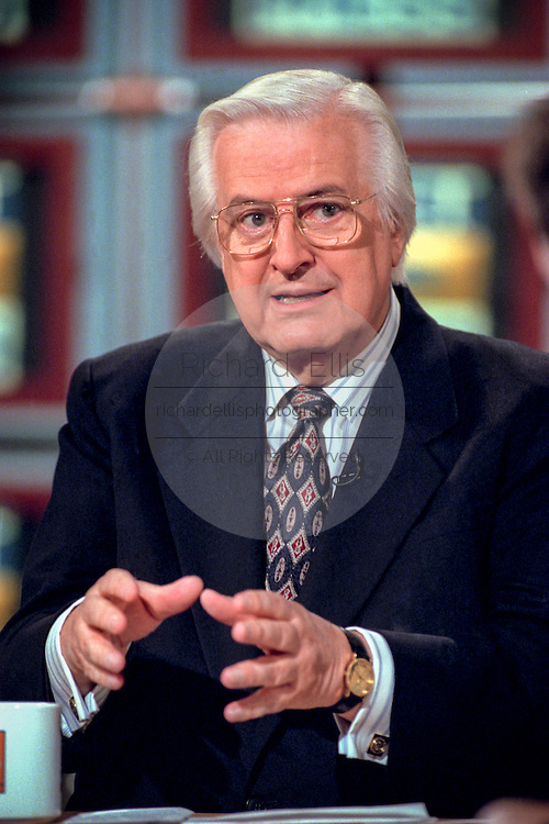 Rep. Henry Hyde, chairman of the House Judiciary committee discusses the upcoming impeachment hearings against President Clinton during NBC's ''Meet the Press'' October 4, 1998 in Washington, DC.
