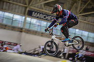 #161 (RAGOT RICHARD Mathis) FRA during practice at the 2019 UCI BMX Supercross World Cup in Manchester, Great Britain