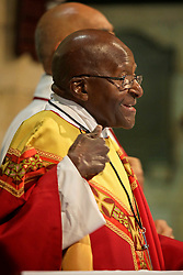 Friday 7th October 2016.<br /> St. George's Cathedral,<br /> Cape Town,<br /> Western Cape,<br /> South Africa.<br /> <br /> Archbishop Emeritus Desmond Tutu Celebrates His 85th Birthday!<br /> <br /> Archbishop Emeritus and Nobel Peace Prize Laureate Desmond Tutu celebrates his 85th birthday along with special family, friends, guests, visitors and media during the Friday Mass held at St. George's Cathedral in Cape Town, South Africa on Friday 7th October 2016.<br /> <br /> Picture By:  Mark Wessels / RealTime Images.