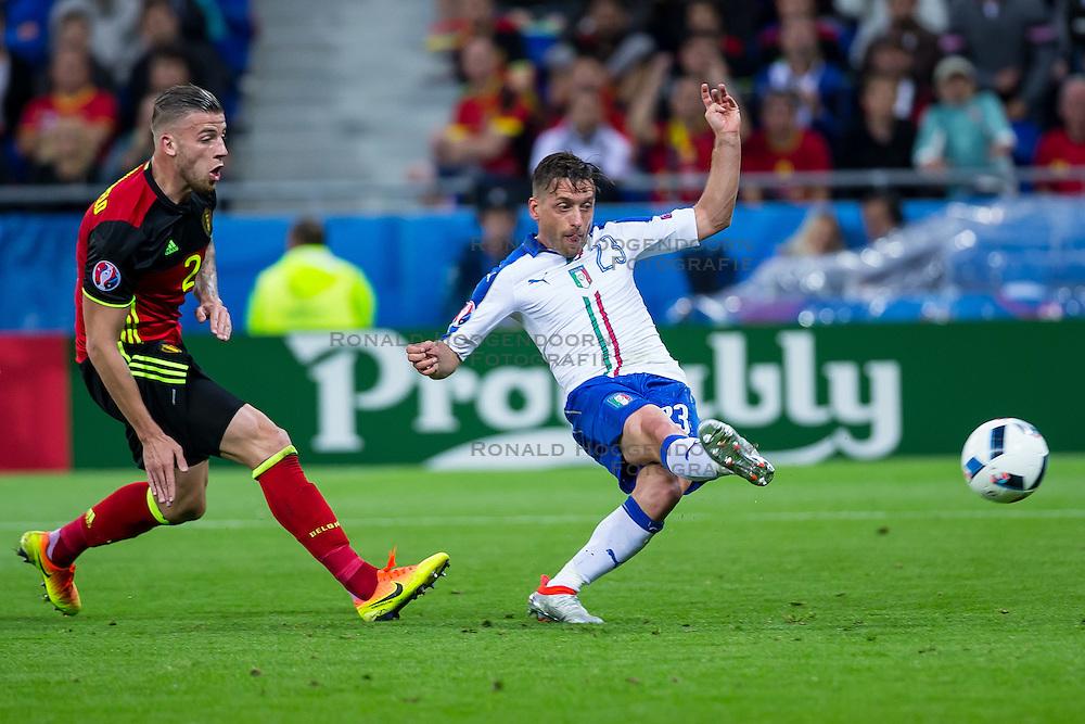 13-06-2016 FRA: UEFA EURO Belgie - Italie, Lyon<br /> België verliest met 2-0 van Italie / Emanuele Giaccherini <br /> <br /> ***NETHERLANDS ONLY***