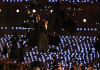 Olympics - London 2012 - Opening Ceremony<br /> Actors dressed as Mary Poppins descend from the roof during the opening ceremony at the Olympic Stadium, London