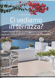 Travel Magazine DOVE, issue 4/2014, published by RCS. Article about Astipalaya, curated by Maria Giovanna Aceti.