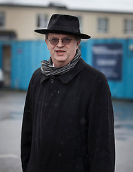 © Licensed to London News Pictures. 27/02/2017. London, UK. Comedian Paul Merton attends the funeral of comedy writer Alan Simpson at the Hampton & Richmond Borough Football Club in Hampton, west London. Alan Simpson was best known for his comedy writing partnership with Ray Galton - creating greats such as Hancock's Half Hour  and Steptoe and Son. Photo credit: Peter Macdiarmid/LNP