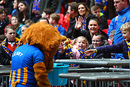 Shrewsbury Mascot and fans during the EFL Trophy Final match between Lincoln City and Shrewsbury Town at Wembley Stadium, London, England on 8 April 2018. Picture by John Potts.