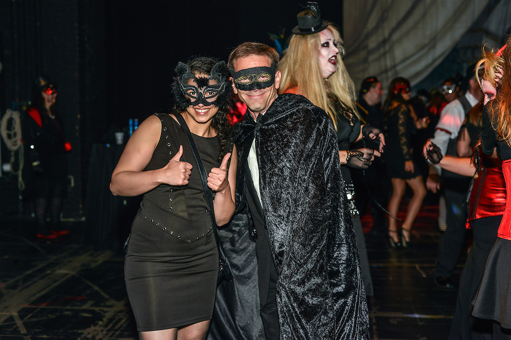 Guests in costume at The Masque of the Red Death Halloween event at The Akron Civic Theatre on October 25, 2014.