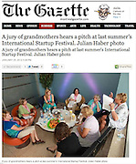 Photo of Grandmothers Jury at International Startup Festival (2011), published in The Gazette