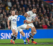 Twickenham, United Kingdom, Saturday, 9th March 2019,  England's, Joe COKANASIGA, running with the ball, during the Guinness Six Nations match, England vs Italy,  at the RFU Rugby, Stadium,© Peter Spurrier